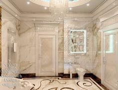 Дизайн Ванной комнаты 145: Дизайн квартиры вАлматы в стиле ар деко отражает прекрасный праздник жизни во всех апартаментах элитной квартиры. И интерьер ванной комнаты выглядит не ме