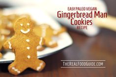 Easy paleo vegan gingerbread man cookies recipe - nut-free, dairy-free, egg-free, grain-free