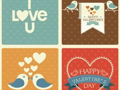 Valentine's Day Retro Set by Freepik