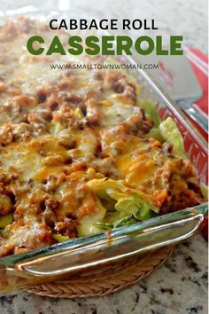 An easy family favorite that combines all the delicious flavors of stuffed cabbage rolls with a lot less time and effort! This healthy Cabbage Roll Casserole is perfect for dinner and the leftovers heat perfectly in the microwave. Save this quick and easy Healthy Casserole Recipes, Easy Healthy Recipes, Beef Recipes, Easy Meals, Casseroles Healthy, Easy Casserole Dishes, Turnip Recipes, Recipies, Easy Family Dinners
