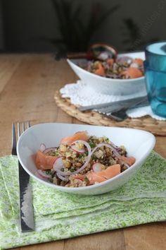 salade quinoa lentilles saumon 003 LE MIAM MIAM BLOG