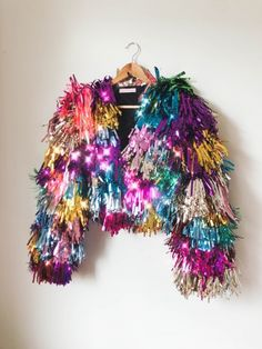 Sequin Jacket, Fringe Jacket, Glitter Jacket, Stage Outfits, Cool Outfits, Funky Outfits, Moda Disco, Diy Fashion, Fashion Outfits
