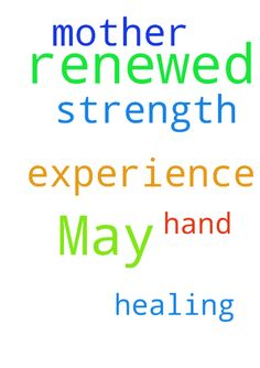May my mother experience renewed strength through the - May my mother experience renewed strength through the Lords Healing Hand. Amen. Posted at: https://prayerrequest.com/t/E3N #pray #prayer #request #prayerrequest