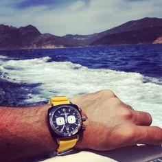 #mybriston #corsica #island #watch #briston #clubmaster Sport #acetate #black yellow #NATO