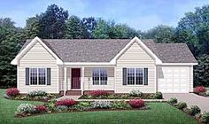 Elevation of Country   Ranch   House Plan 45515