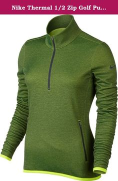 Nike Thermal 1 2 Zip Golf Pullover 2015 Ladies Volt X-Small. Nike 68e27e58ad8a8
