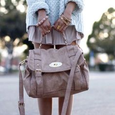 the sweater is fun Cognac Boots, Mulberry Bag, Fashion Corner, Steve Madden Bags, Fashion Backpack, Purses And Bags, Style Inspiration, Clothes For Women, Sweater