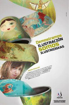 Afiche interior 3. Rusia y sus diseñadores. Trabajo de Diseño 4. Realizado con Ornella de Gregorio.