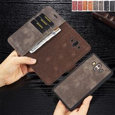 Genuine Leather Cowhide Flip Case For Samsung Galaxy Note 9 8 Plus Card Slot. For iPhone XS Max XR 8 Plus Shockproof Sparkle Bling Glitter Case Tempered Glass. Leather Holster, Leather Wallet, Flip Cards, Galaxy Note 9, Card Case, Slot, How To Remove, Pouch, Bling