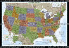 Jual peta Negara Amerika USA  info lebih lanjut kunjungi Juragan-poster.com