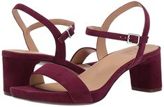 This two piece sandal with adjustable buckle closure and lower statement heel was meant to carry you throughout your day in style. Naturalizer Contour Plus provides the comfort by way of a cushioned insole, lightweight components, and breathable linings. Wrap Heels, Ankle Strap Heels, Suede Heels, Naturalizer Shoes, Clearance Shoes, Boots For Sale, Womens High Heels, Cute Shoes, Open Toe