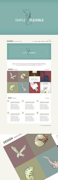 Flexible - Best Portfolio Wordpress Themes as Minimal
