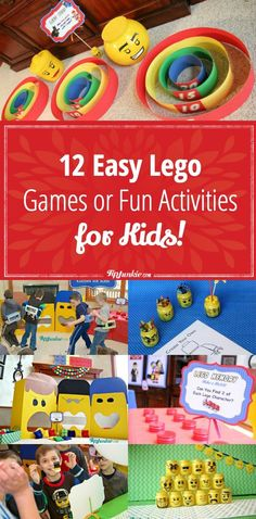 12 Easy Lego Games or Fun Activities for Kids! 12 Easy Lego Games or Fun Activities for Kids! 12 Easy Lego Games or Fun Activities for Kids! 12 Easy Lego Games or Fun Activities for Kids! Lego Party Games, Lego Batman Party, Tween Party Games, Lego Themed Party, Lego Birthday Party, 6th Birthday Parties, Boy Birthday, Fun Games, Sleepover Party