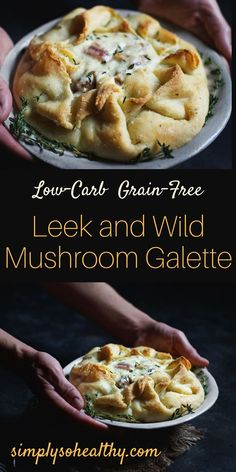 This Low-Carb Leek and Wild Mushroom Galette recipe makes a delicious and impressive meal. It's easy to make and works for low-carb, ketogenic, Atkins, gluten-free, grain-free, and Banting diets.