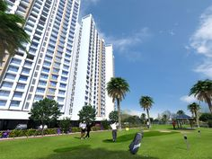Golf playing area inside #MarinaEnclave in #Malad.. For details visit: http://gurukrupagroup.com/marina.html