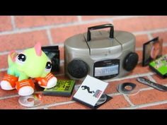 How to Make A Doll Stereo and CDs - Doll Crafts - YouTube