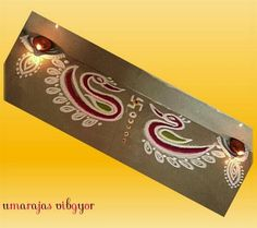 Border rangoli designs are usually made at the entrance of pooja room or the house. People also make border rangoli along the exterior wall of the house. Rangoli Designs Photos, Rangoli Ideas, Beautiful Rangoli Designs, Kolam Designs, Rangoli Borders, Kolam Rangoli, Ministry Of Magic, Pooja Rooms, Art N Craft