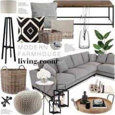 A home decor collage from September 2016 by emmy featuring interior interiors interior design home home decor interior decorating Arteriors Heathfield amp; Living Room Modern, Home And Living, Living Room Designs, Small Living, Modern Farmhouse Living Room Decor, Gray Living Room Decor Ideas, Living Room Decor Kmart, Gray Couch Decor, Gray Couches