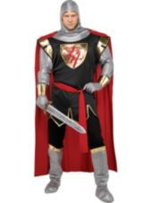 Adult Brave Crusader Knight Costume Plus Size-Party City