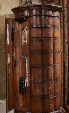 Hooker Furniture Seven Seas Shaped Jewelry Armoire