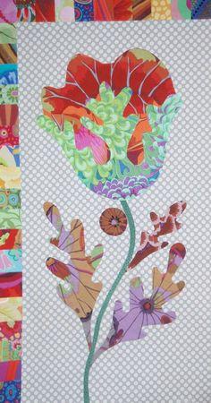 FOLK ART FLOWER - Third  Kim McLean Flower Garden Block