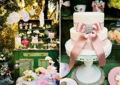 More tea party photos dessert tables, boutiqu, tea parti, little girl birthday, pink cupcakes, garden, parti idea, party cakes, bridal showers