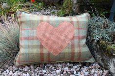 Totally Tartan - Sale Spring Sage and orange Heart Tartan Cushion, £34.00 (http://www.totallytartan.net/sale-spring-sage-and-orange-heart-tartan-cushion/)