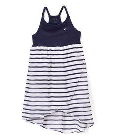 Look what I found on #zulily! Navy & White Stripe Racerback Dress - Infant #zulilyfinds
