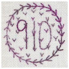 910 Viola - Backstitch & fly stitch.