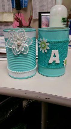 Aluminum Can Crafts, Tin Can Crafts, Metal Crafts, Crafts To Make, Home Crafts, Arts And Crafts, Diy Crafts, Mason Jar Crafts, Bottle Crafts