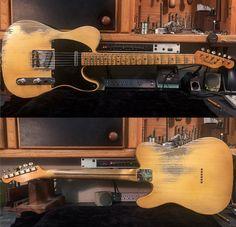 Fender Custom Shop Telecaster Relic Masterbuilt by Dale Wilson Fender Custom Shop Telecaster, Fender Stratocaster, Fender Bass Guitar, Guitar Amp, Beautiful Guitars, Rock Music, Music Instruments, Les Paul, Drums