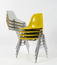 Charles & Ray Eames for Herman MIller / Vitra, mod. DSS stacking chairs 1955