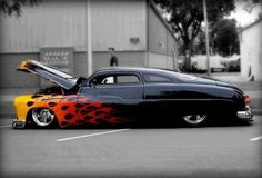 "1949 Mercury ""Lead Sled"" love the whole car custom scheme especially the extreme chopped top slick rear taper, NEVER seen that one pulled off before, GREAT Congrats! LL:)cool car Lead Sled, Bugatti, Lamborghini, Ferrari, Hot Rods, Classic Hot Rod, Classic Cars, Carros Hot Rod, Hot Rod Autos"