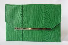 Grande Pochette Enveloppe Verte