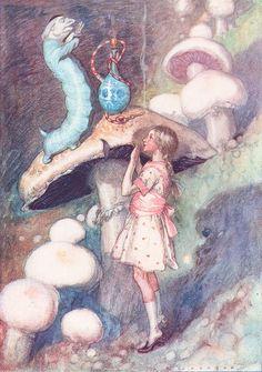 A.E. Jackson illustration   Alice's Adventures in Wonderland (TAG: PUBLIC DOMAIN)