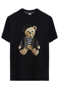 Mod teddy tee / black