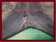 Mamma, a Hole ! Sewing Pants, Sewing Clothes, Diy Clothes, Patched Jeans, My Jeans, School Fashion, Diy Fashion, Creation Couture, Altering Clothes