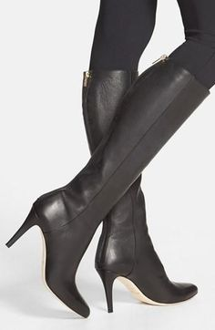 The perfect black leather boot by Jimmy Choo.