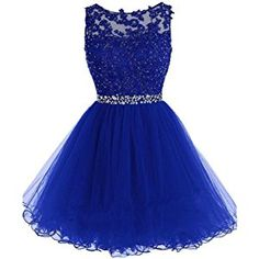 Drasawee Short Tulle Evening Cocktail Ball Gowns Prom Dresses for Teen Girls