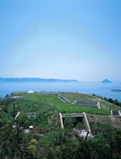 Benesse Art Site Naoshima, Japan in the Sento Inland Sea.