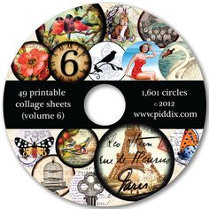 CD filled with 1601 digital circles on 49 printable collage sheets. First week special with THREE bonus sheets of your choice.