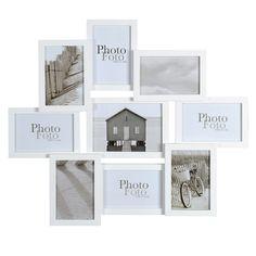 Cadre photo gris 9 vues 50 x 58 cm   Bois gris, Relief et Cadres