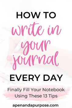 Create a daily journaling habit so you can reflect on your day and become more mindful of your life. When you slow down to journal, you allow yourself time to talk to yourself and reflect. Learn these 13 tips to become more consistent with your journal Bullet Journal How To Start A, Keeping A Journal, Bullet Journal Ideas Pages, Journal Entries, How To Journal, Journal Writing Prompts, Journal Layout, Writing Tips, Daily Journal