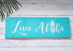 Live Aloha Wooden Sign  #homedecor #livealoha #madeinhawaii