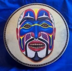 Hand Painted Native American Style Drum Pacific by StuARTdrums, $385.00