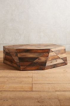 Acamar Coffee Table #anthropologie: Reclaimed wood in a geometric shape. Beautiful!