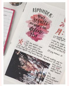 """tomi-letters: """" bujo spread this week was again inspired by the wonderful kOu & her amazing photos at ! photo credits to her ahaha (o^^o) my exam results were released this week and I did…alright, I guess? Bullet Journal 2019, Bullet Journal Inspo, Bullet Journal Spread, Bullet Journal Layout, Bullet Journals, Photo Journal, Journal Pages, Doodles, Project Life"""