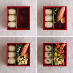How to rice balls and food into the bento box!
