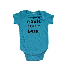 Apericots - Wish Come True Cute Unisex Short Sleeve Infant Bodysuit, $11.99 (http://www.apericots.com/wish-come-true-cute-unisex-short-sleeve-infant-bodysuit/)