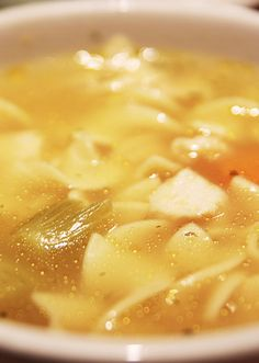 Chicken, chicken broth, mixed vegetables, egg noodles and salt and pepper come together in the crock pot to make this tasty Chicken Noodle Soup.